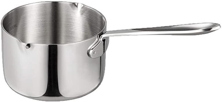 シルバー 450ml IMEEA ミルクパン 片手鍋 18-10ステンレス IH対応 450ml ソースパン ミニミルクパン_画像1