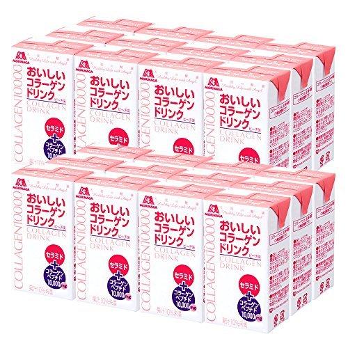 【新品☆即決価格】 : 森永製菓 おいしいコラーゲンドリンク 125ml&24本 約24日分 ピーチ味_画像1