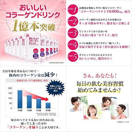 【新品☆即決価格】 : 森永製菓 おいしいコラーゲンドリンク 125ml&24本 約24日分 ピーチ味_画像2