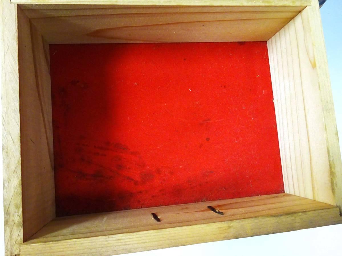 ◆卓上木製の小引き出し3段 ソーイングボックス 収納 アンティーク レターケース 古道具 小物入れ 昭和レトロ 収納棚 インテリア雑貨_画像7