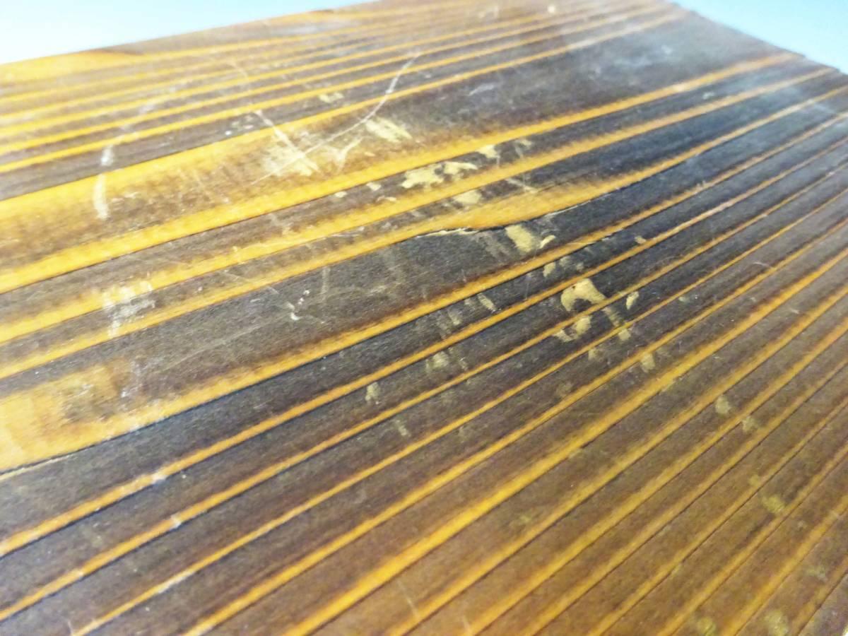 ◆卓上木製の小引き出し3段 ソーイングボックス 収納 アンティーク レターケース 古道具 小物入れ 昭和レトロ 収納棚 インテリア雑貨_画像9