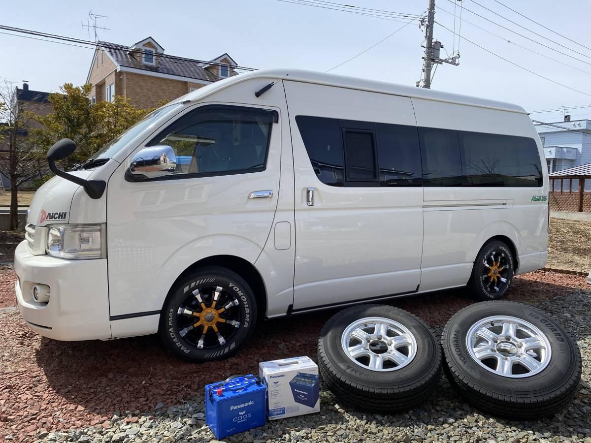 「北海道 札幌近郊 H18年 トヨタ レジアスエース 8ナンバー キャンピング 車検R4.3まで 常設2段ベッド FFヒーター コミコミ価格  ハイエース」の画像3