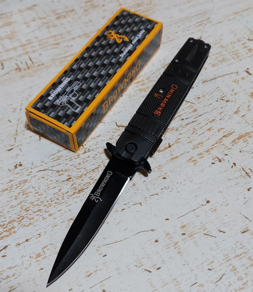 折り畳み式ナイフ(ストレート刃)