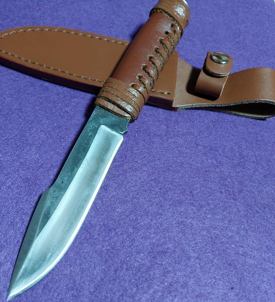 鍛造 極厚刃 ハンティングナイフ