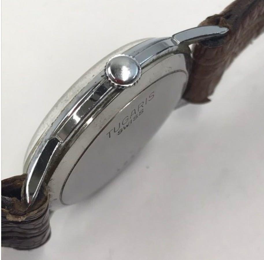 TUGARIS タガリス 腕時計 レザー 手巻き 小物 アナログ メンズ ブランド_画像3