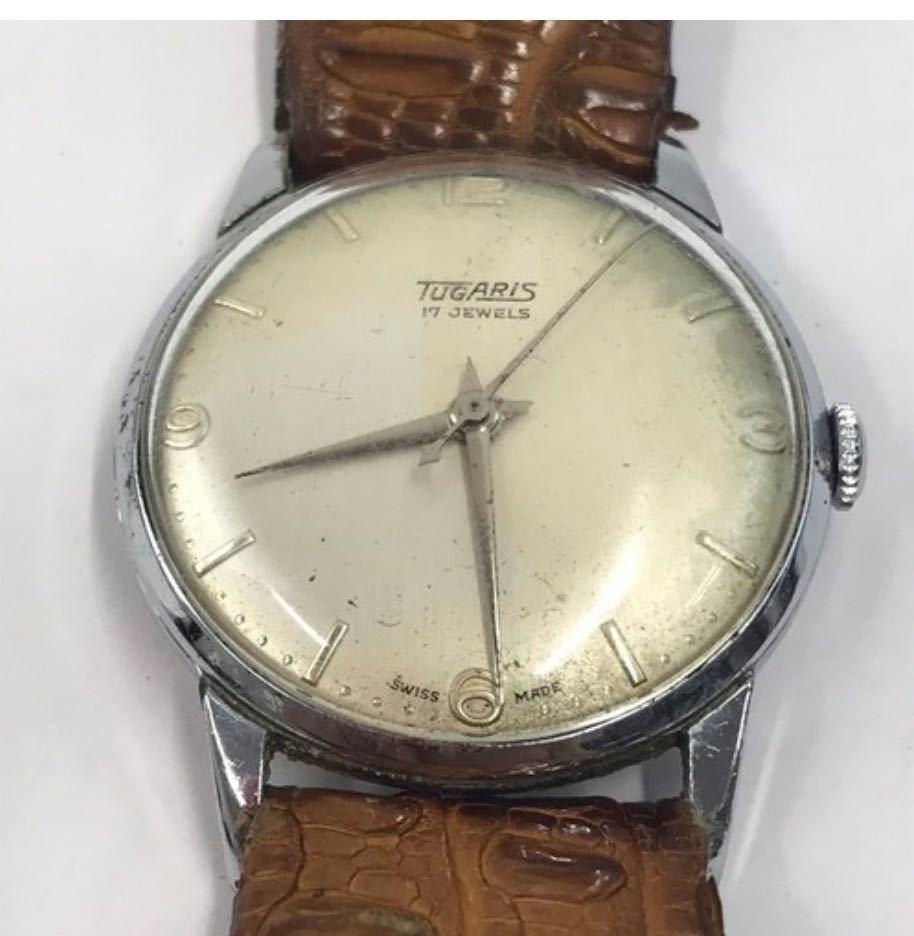 TUGARIS タガリス 腕時計 レザー 手巻き 小物 アナログ メンズ ブランド_画像1