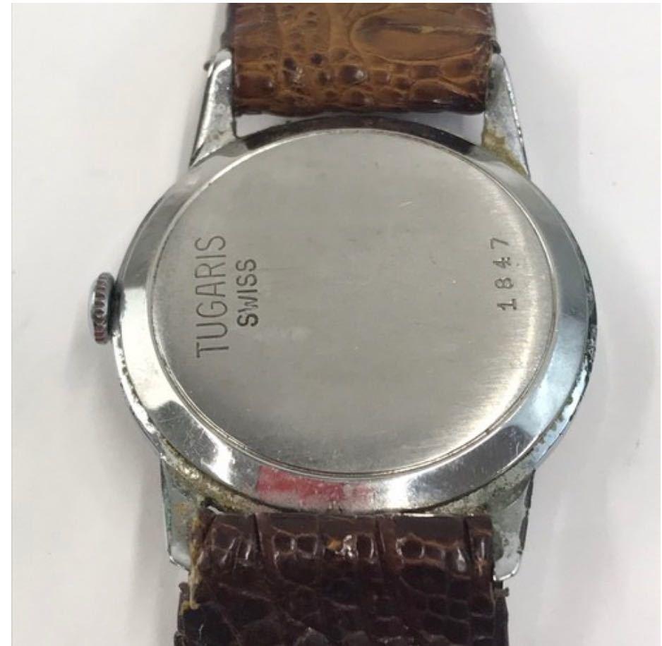 TUGARIS タガリス 腕時計 レザー 手巻き 小物 アナログ メンズ ブランド_画像2