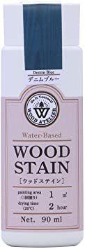 デニムブルー 90ml 和信ペイント 水性着色剤 ウッドアトリエ ウッドステイン 90ml 800607 木目を生かした着色 _画像1