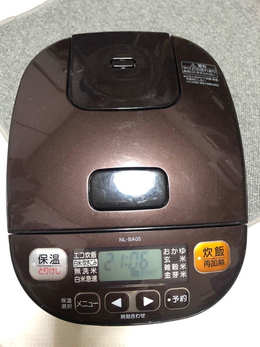 象印マイコン炊飯ジャーNL-BA05型 ブラウン色