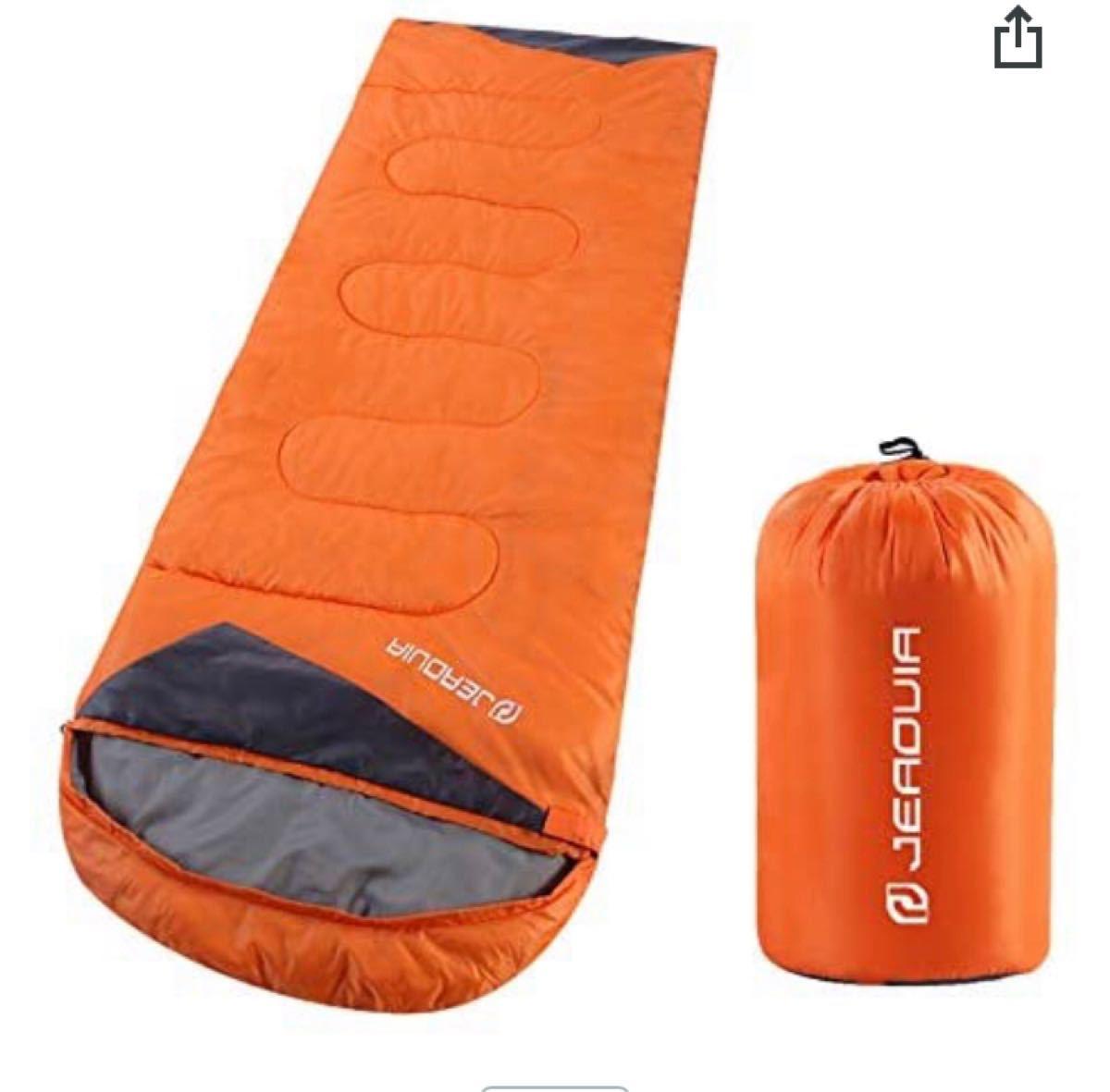 封筒型寝袋 軽量 保温 防水 簡単収納 登山 車中泊キャンプ 避難 1.35kg
