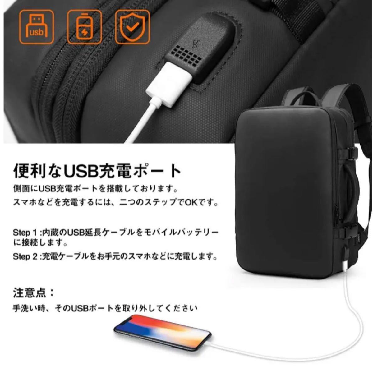 リュック ビジネスリュック バックパック リュックサック USBポート