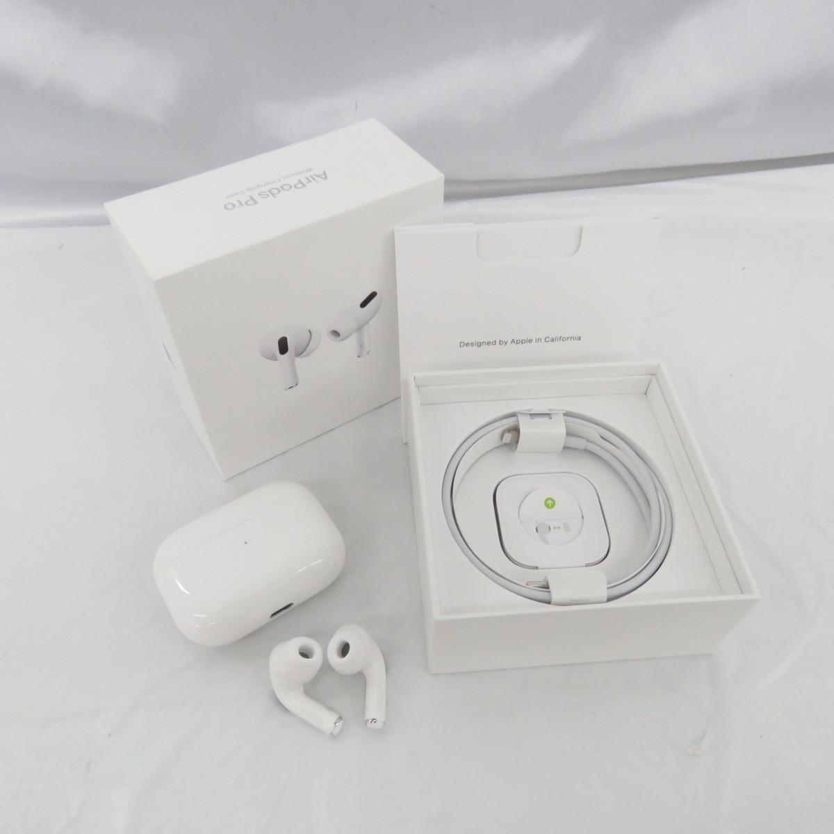 【中古品】Apple アップル ワイヤレスイヤホン エアーポッズプロ AirPods Pro with Wireless Charging Case MWP22J/A 904130813