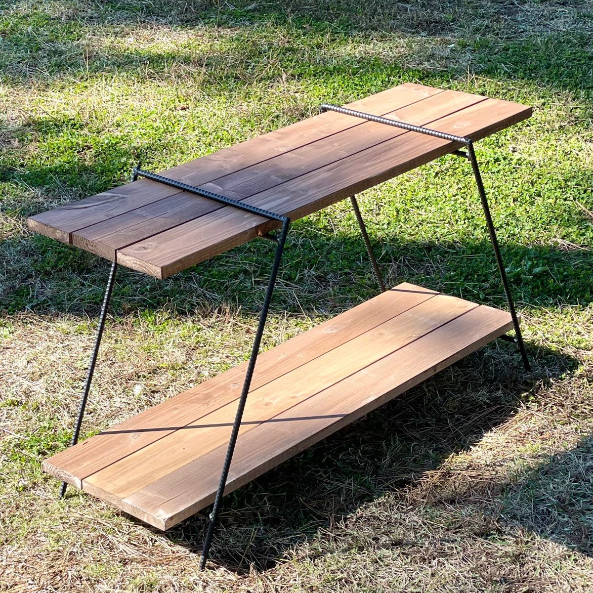 アイアンラック 450 保護キャップ付 鉄脚のみ アイアンレグ テーブル