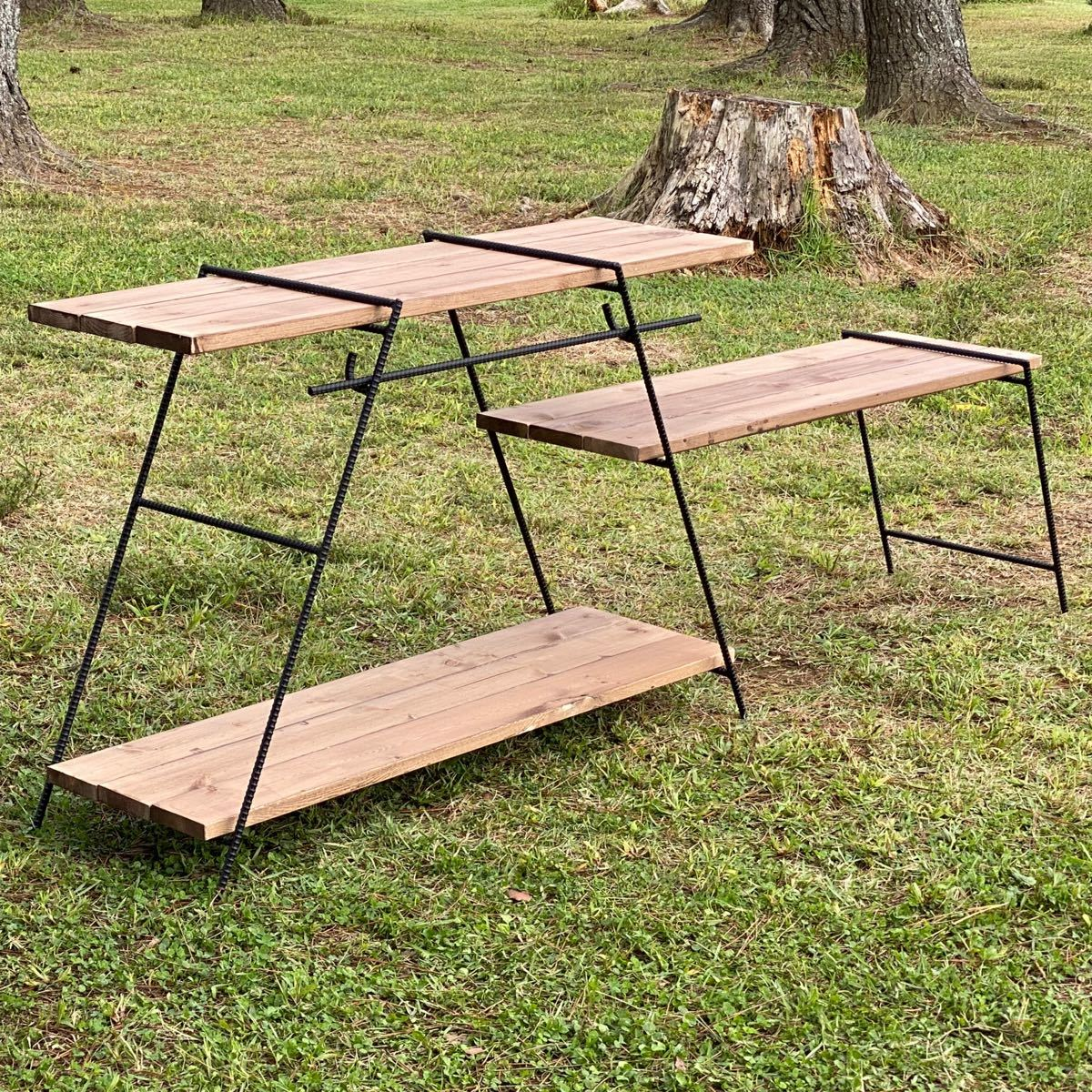 アイアンラック フック棒付 保護キャップ付 鉄脚のみ アイアンレグ テーブル