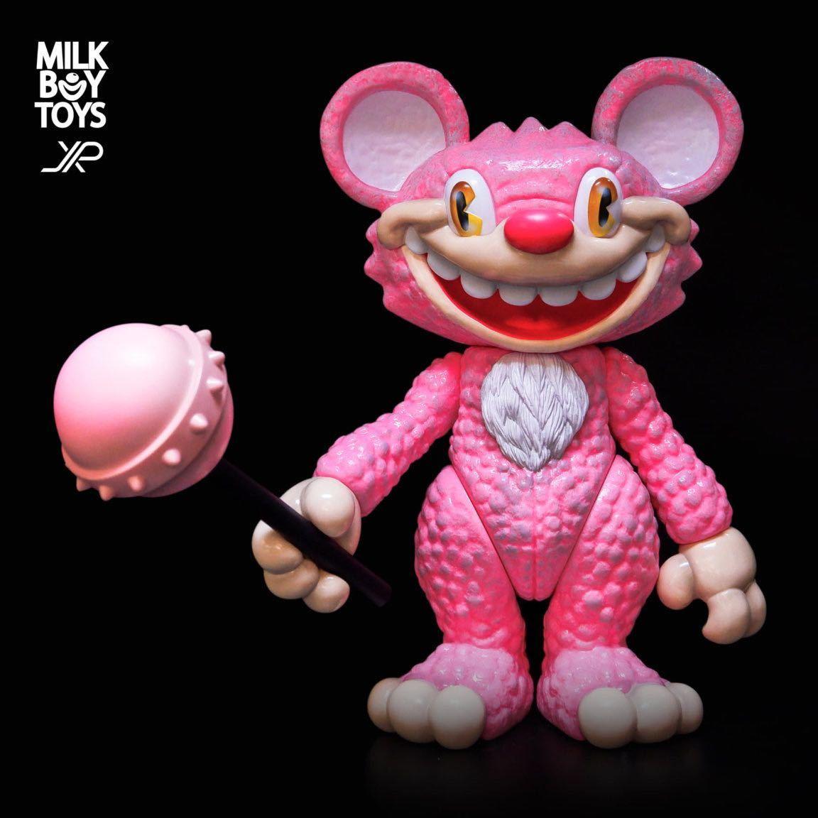 新品 JPX x MILKBOY TOYS IT BEAR the animated TOYS itbear kenth toy works BLACK PEARLS イットベアー ミルクボーイトイズ ソフビ_画像1