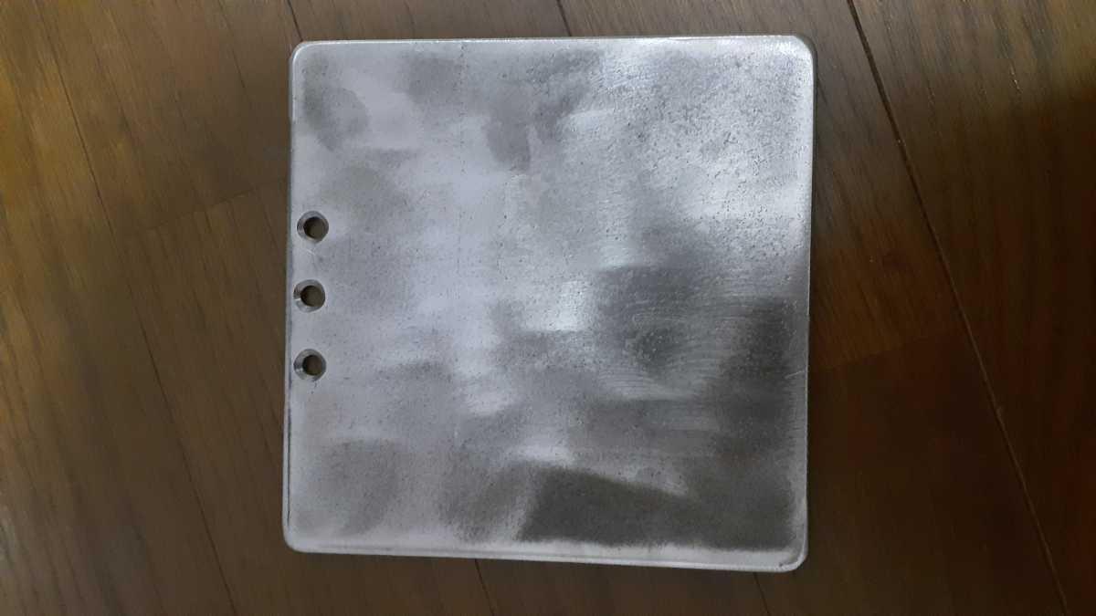 シングルバーナー用 鉄板150mm角 4.5mm厚 ソロキャン BBQなどに! ①