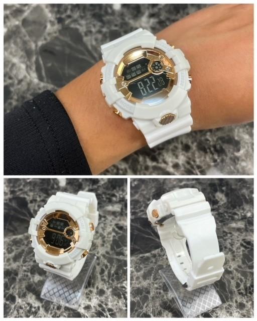 スポーツ腕時計 LED デジタル 腕時計 時計 ミリタリー 自転車 スポーツ アウトドア キャンプ 男女兼用 ランニング ホワイト 21_画像4