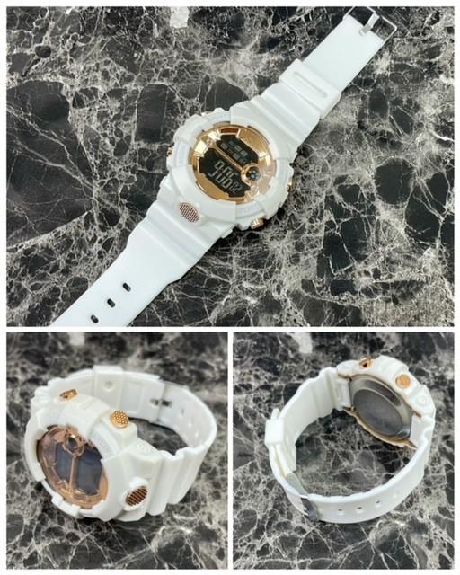 スポーツ腕時計 LED デジタル 腕時計 時計 ミリタリー 自転車 スポーツ アウトドア キャンプ 男女兼用 ランニング ホワイト 21_画像5