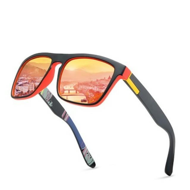 POLARIZED 新品偏光 レッドミラーレンズ サングラス UV400