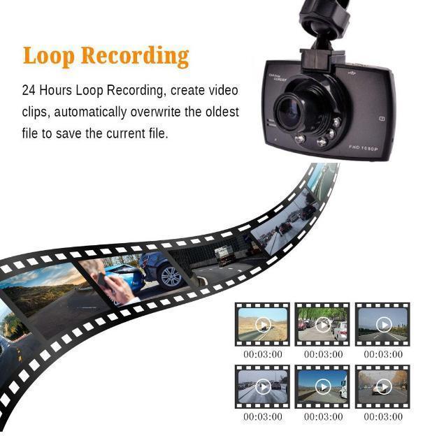 ドライブレコーダー 車載カメラ ドラレコ 1080PフルHD ビデオカメラ ナイトビジョン 170度広角 Gセンサー ループ録画 小型_画像3