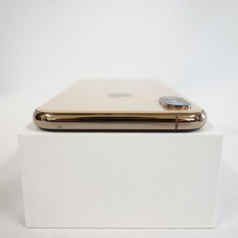 1円スタート ジャンク SIMフリー iPhone Xs 64GB ゴールド 残債無し アウトカメラ使用不可 【専0406-236再】兼_上部側面、キズがあります。