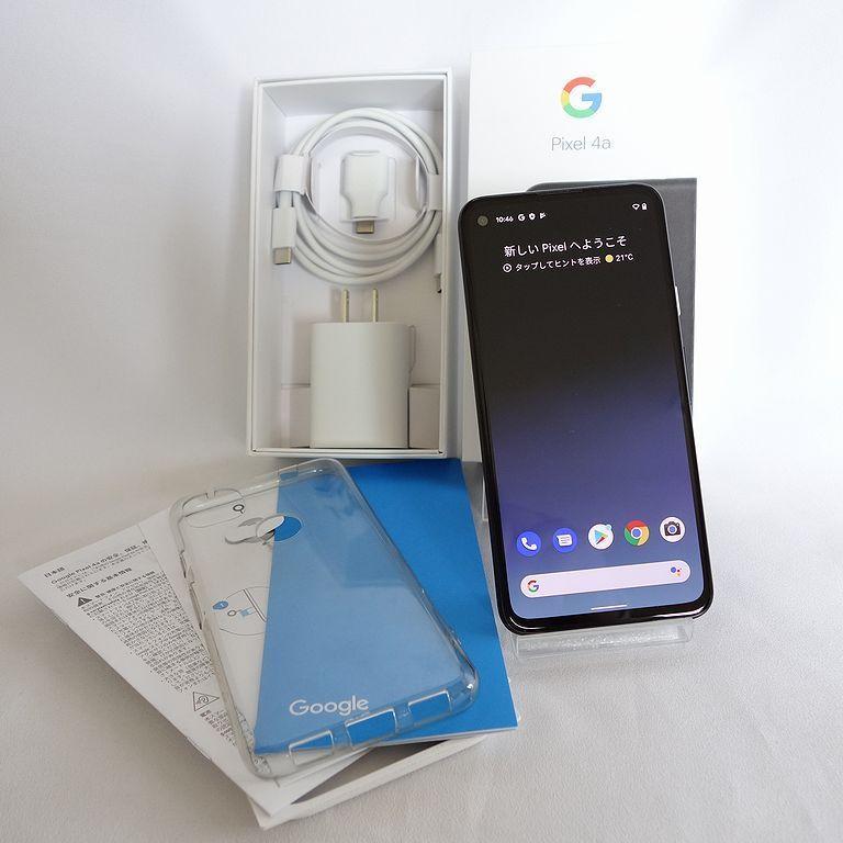 美品 SIMフリー ◆安心30日保証◆ Softbank Google pixel 4a 128GB ジャストブラック ネットワーク制限保証 【専0402-339】岡_画像1