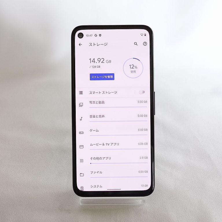 美品 SIMフリー ◆安心30日保証◆ Softbank Google pixel 4a 128GB ジャストブラック ネットワーク制限保証 【専0402-339】岡_画像7