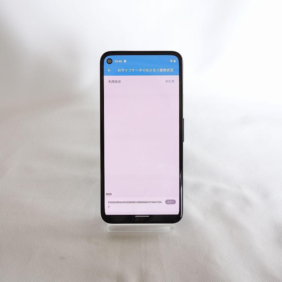 美品 SIMフリー ◆安心30日保証◆ Softbank Google pixel 4a 128GB ジャストブラック ネットワーク制限保証 【専0402-339】岡_おサイフケータイ未使用