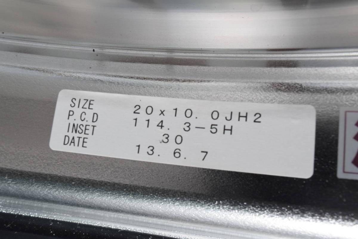 【鍛造 深リム】ヴァルケン フォージドコレクション WRC 20in 10J +30 PCD114.3 クラウン マークX オデッセイ V36 V37 スカイライン フーガ_画像6