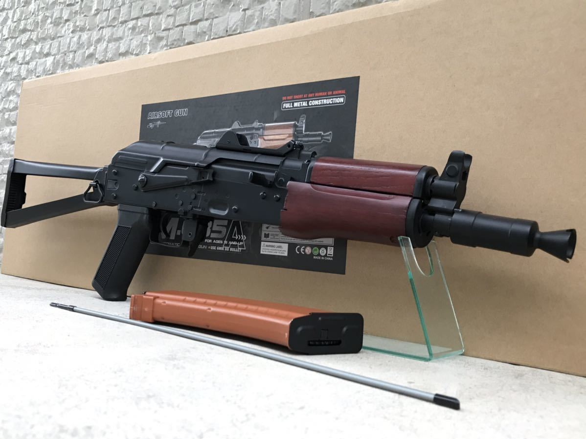 CYMA AKS74U CM.035 電動ガン 作動OK セミフルOK 木製ハンドガード