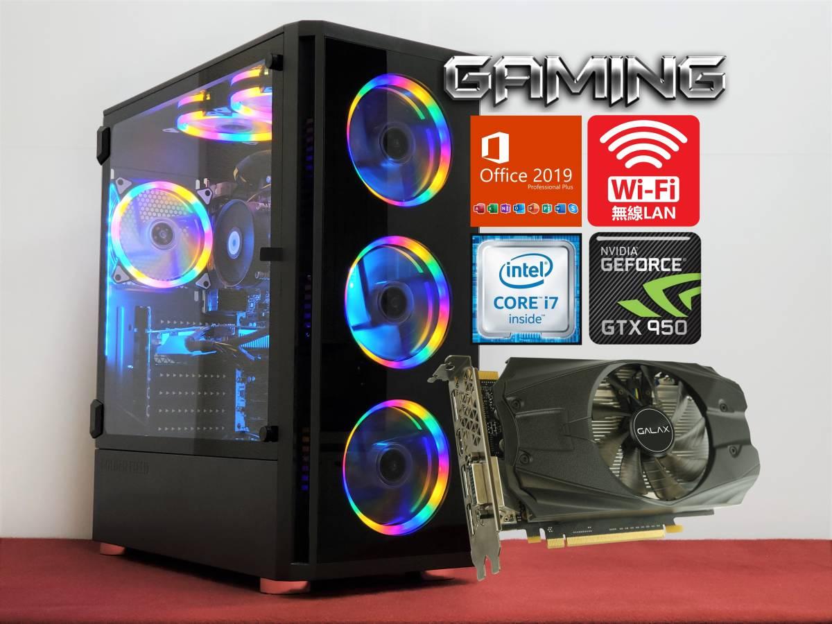 超高速 Core i7 6700 4.0GHz / 16GB / 新品SSD500GB + 2TB / GTX 950 / 4画面OK / WiFi /