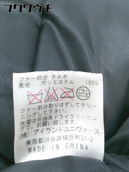 ■ Decious ディシャス 長袖 中綿 ジャケット サイズ38 ブラック レディース_画像7