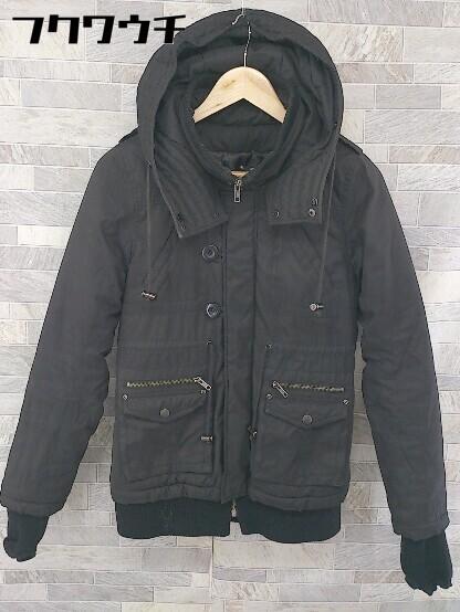 ■ Decious ディシャス 長袖 中綿 ジャケット サイズ38 ブラック レディース_画像1