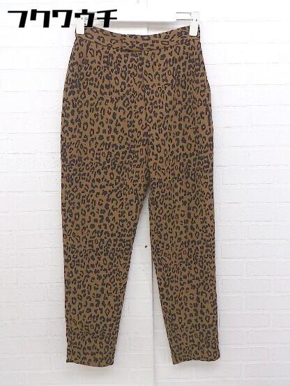 ◇ SLY スライ 豹柄 レオパード パンツ サイズ1 ブラウン ブラック レディース_画像1