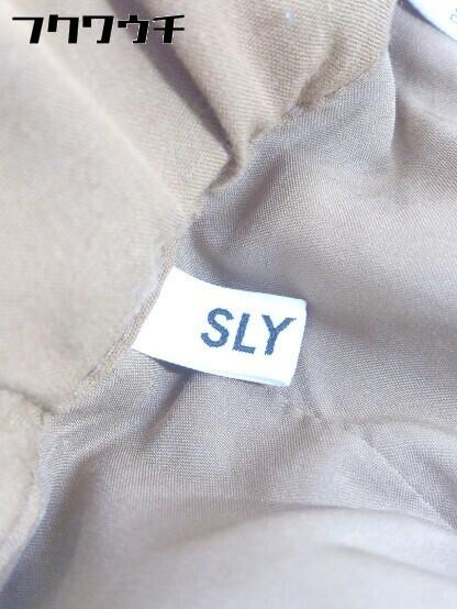 ◇ SLY スライ 豹柄 レオパード パンツ サイズ1 ブラウン ブラック レディース_画像3