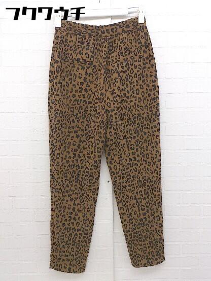 ◇ SLY スライ 豹柄 レオパード パンツ サイズ1 ブラウン ブラック レディース_画像2