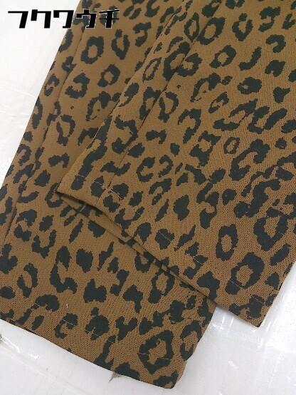 ◇ SLY スライ 豹柄 レオパード パンツ サイズ1 ブラウン ブラック レディース_画像6