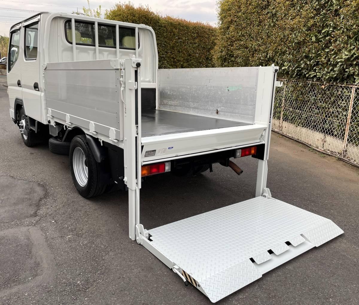 H17 三菱キャンター Wキャビントラック ダブルキャブトラック パワーゲート付き_画像5