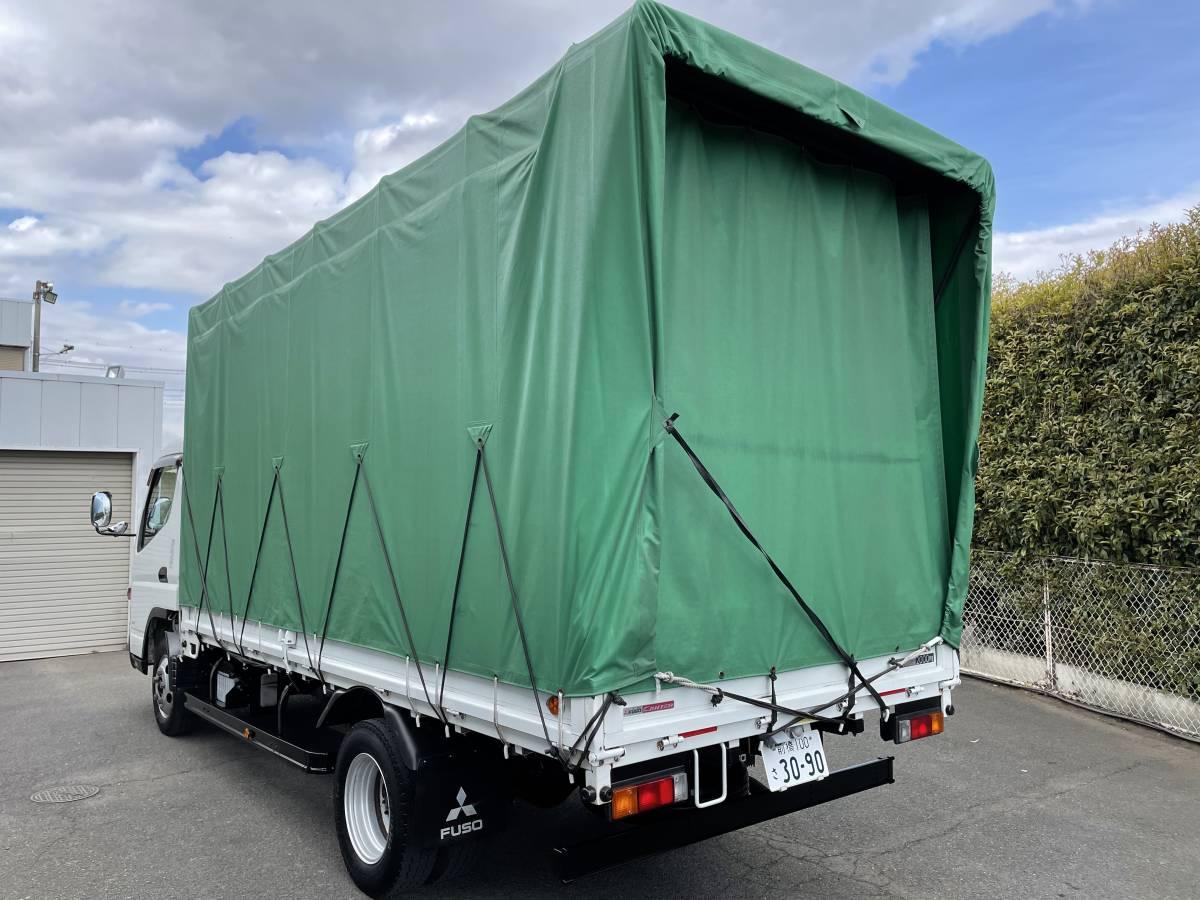 H25 三菱キャンター ワイドロング ホロ車 2トントラック 車検あり 走行距離103,902㎞ 最大積載2000㎏_画像4