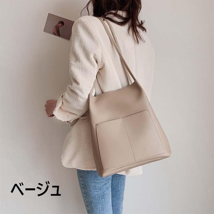 バッグ レディースバッグ 革 ショルダーバッグ 通勤バッグ トートバッグ レディース きれいめ 韓国風 サブバッグ付き 鞄 革 PU 縦型