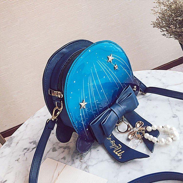 バッグ レディース ショルダーバッグ 斜めがけバッグ バッグ レディース 可愛い きれいめ リボン 星柄 キラキラ かばん ショルダーバッグ