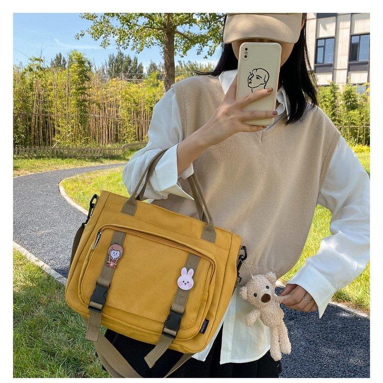 トートバッグ レディース キャンパスバッグ 可愛い 韓国風 バッグ レディース きれいめ トートバッグ キャンパスバッグ 通学 通勤 帆布