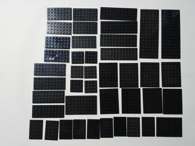 A137 黒 ブラック プレートサイズ色々 大量 約43個 レゴパーツ LEGO_画像1