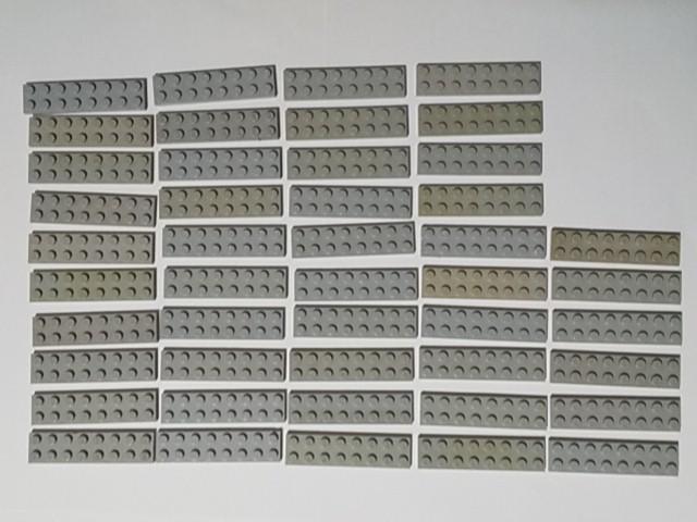 A214 旧灰 灰色 グレー プレート 2×8 大量 約45個 レゴパーツ LEGO_画像1