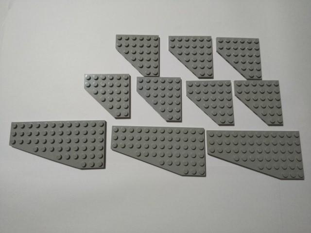 A221 旧灰 灰色 グレー ウイング系プレート 大量 約10個 レゴパーツ LEGO _画像1