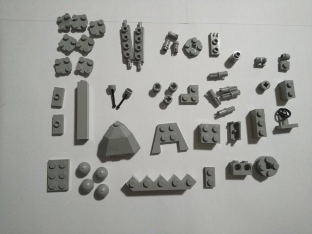A249 旧灰 灰色 グレー 変わったパーツ種類色々 大量 約40個 レゴパーツ LEGO_画像1