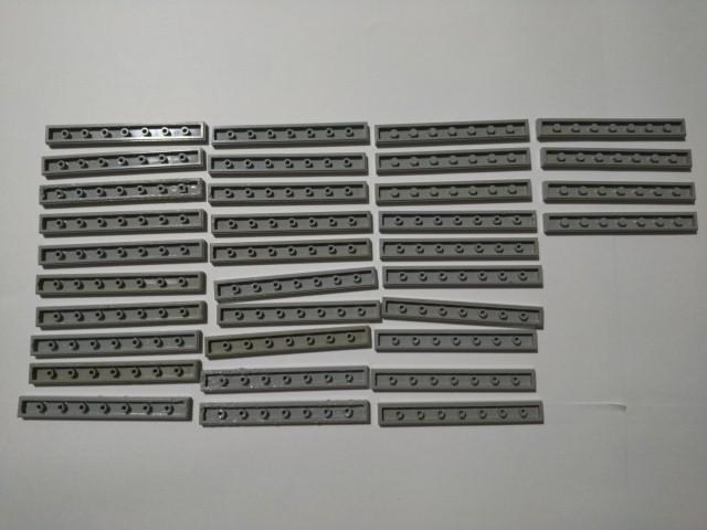 A290  旧灰 灰色 グレー 1×4 タイルパーツ 大量 約34個 レゴパーツ LEGO_画像1