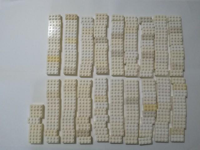 A292 白色 ホワイト 2×4 ブロックパーツ 大量 約182個 レゴパーツ LEGO_画像1