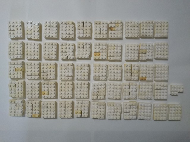 A293 白色 ホワイト 1×2 ブロックパーツ 大量 約515個 レゴパーツ LEGO_画像1