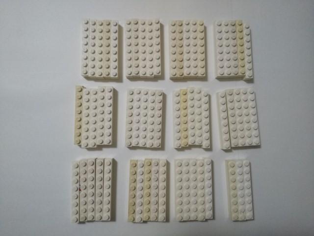 A297 白色 ホワイト 1×8 ブロックパーツ 大量 約58個 レゴパーツ LEGO_画像1